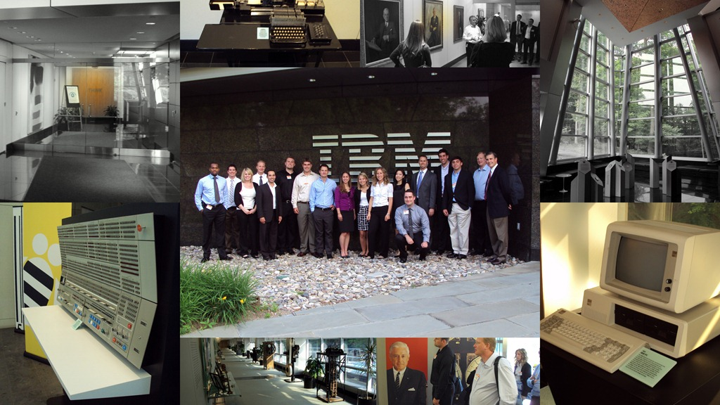 Collage of images from IBM Inprocessing at Armonk